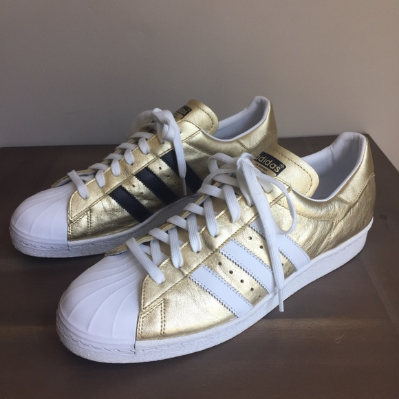 ADIDAS MI Superstar B94463 lace up Gold sneakers